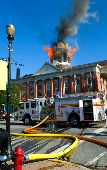 Courthouse Fire 1