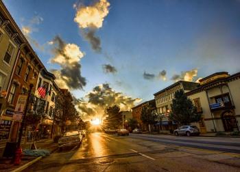 main street sunset